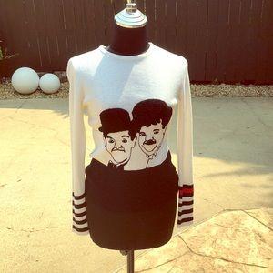 Vintage Laurel & Hardy sweater! Great shape. 70's